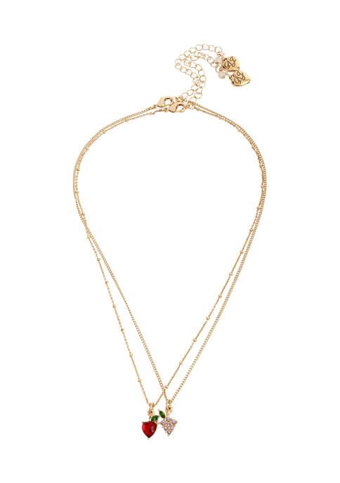Apple & Grapes Pendant Necklace Set
