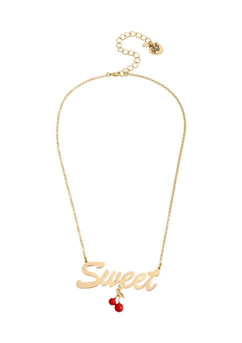 Betsey Johnson Sweet Cherries Pendant Necklace
