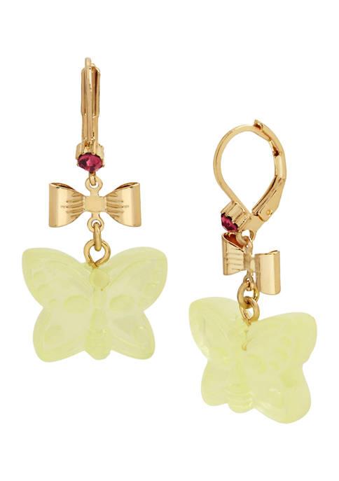 Gummy Butterfly Drop Earrings