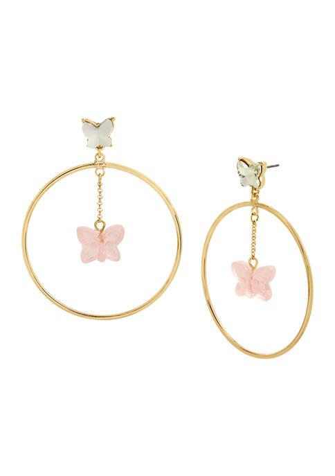 Gummy Butterfly Orbital Earrings