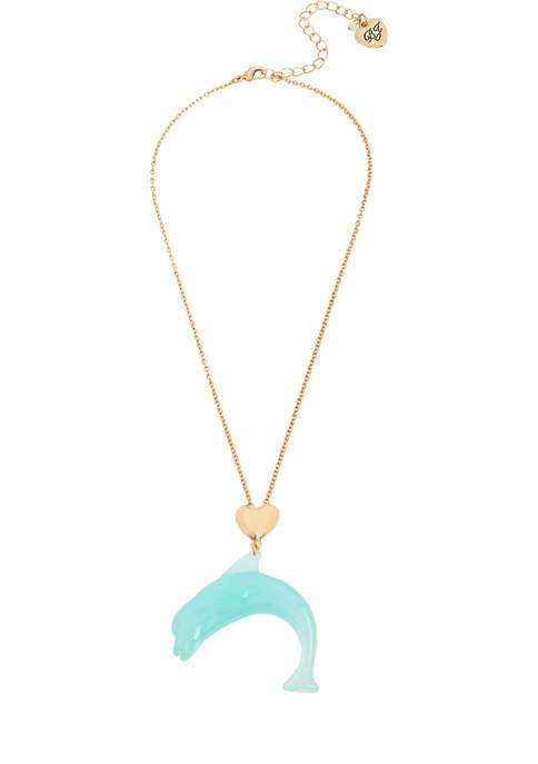 Betsey Johnson Dolphin Pendant Necklace