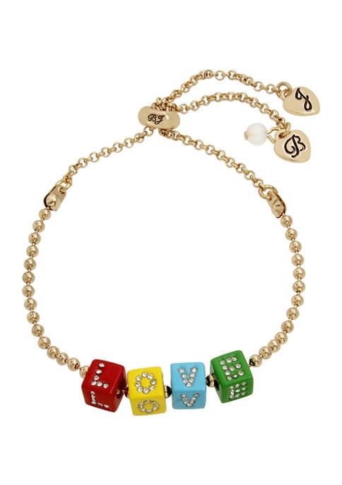 Betsey Johnson LOVE Slider Bracelet