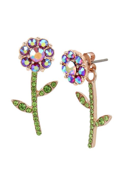 Flower Front Back Earrings