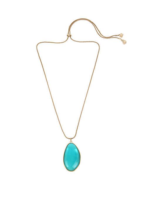 Shell Stone Pendant Adjustable Slider Necklace