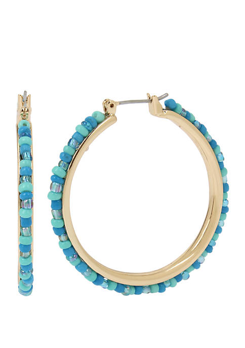 Kenneth Cole New York Turquoise Woven Seed Bead