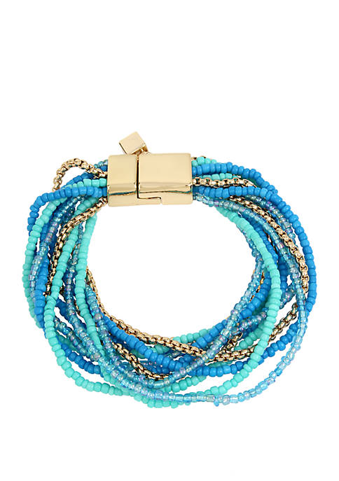 Kenneth Cole New York Turquoise Mixed Seed Bead