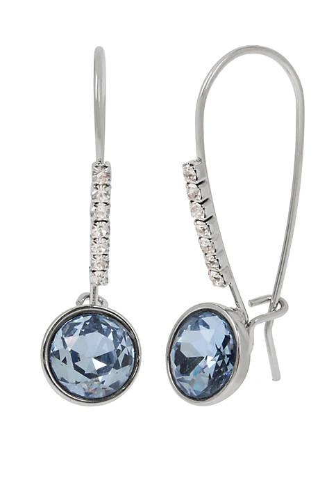 Stone Long Drop Earrings