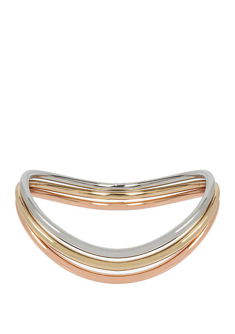 Kenneth Cole New York Tri Tone Curved Bangle