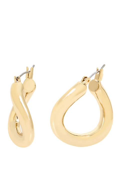 Kenneth Cole New York Gold Twist Small Hoop
