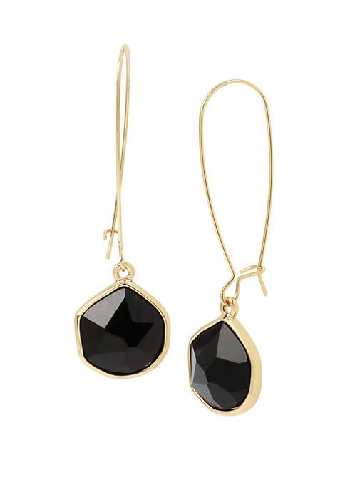 Kenneth Cole Stone Long Drop Earrings