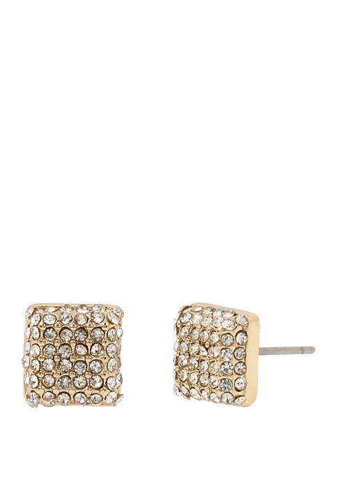 Kenneth Cole New York Gold Pave Square Stud