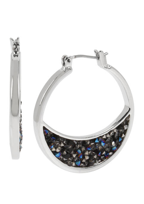 Kenneth Cole Crescent Moon Hoop Earrings