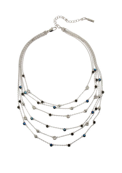 Kenneth Cole Mixed Stone Illusion Necklace