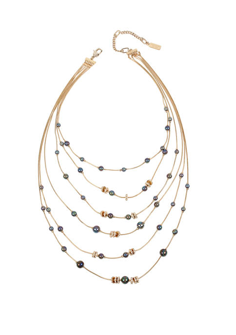 Kenneth Cole Pearl Illusion Necklace