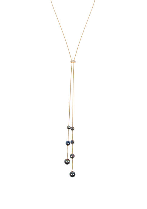 Kenneth Cole Pearl Bolo Necklace