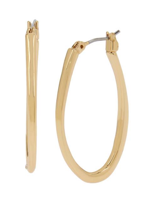 Kenneth Cole Oval Hoop Earrings