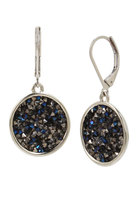 Kenneth Cole Sprinkle Stone Round Drop Earrings