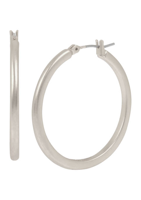 Kenneth Cole Tube Hoop Earrings