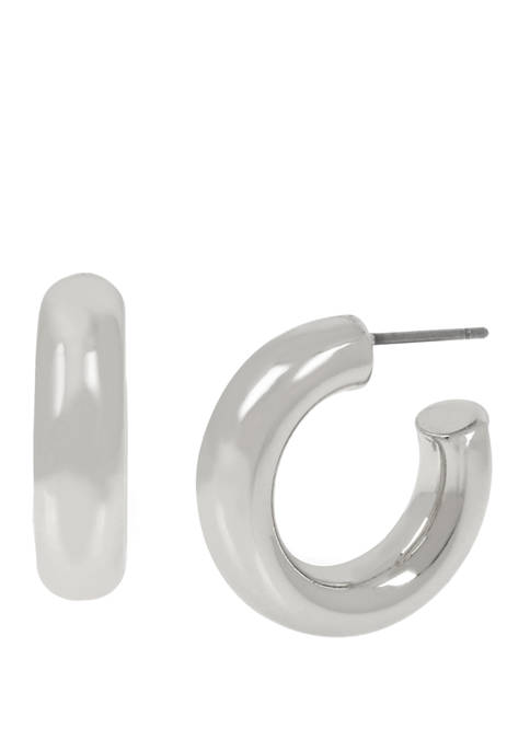 Kenneth Cole Small Tube Hoop Earrings