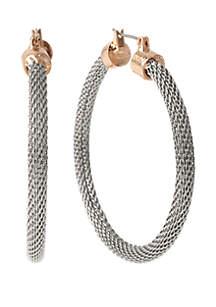 2-Tone Hoop Earrings