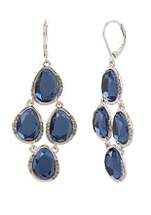 Blue Stone Chandelier Earrings