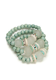 Aqua Surf Trio Stack Bracelets