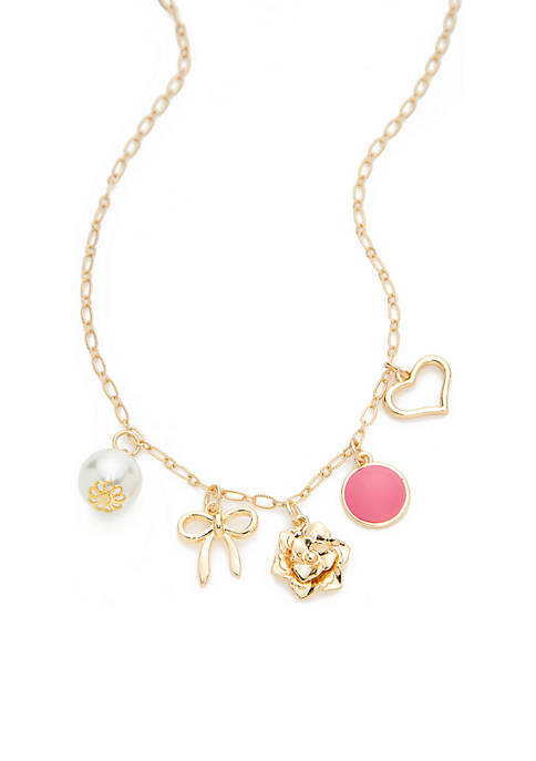 Crown & Ivy™ Boxed Gold-Tone Pearl Bow Heart