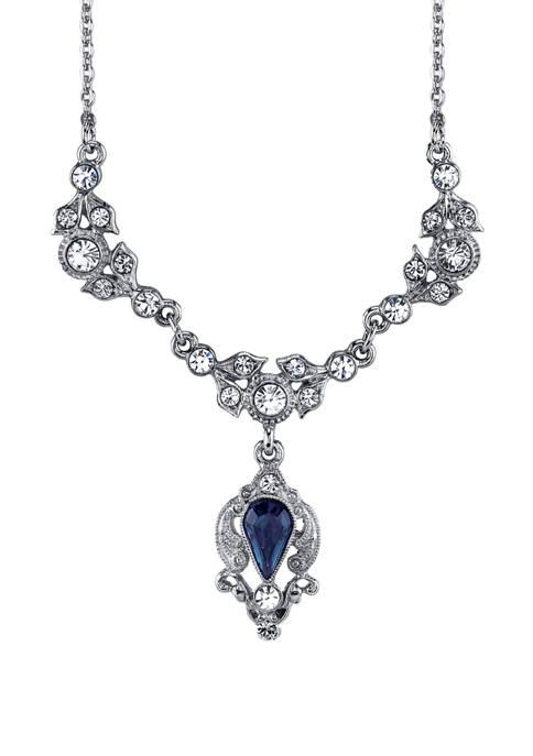 Downton Abbey Crystal Drop Necklace