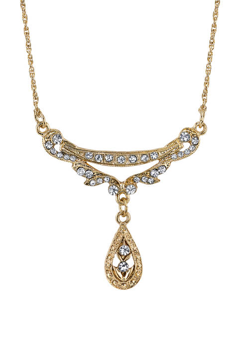 Downton Abbey Crystal Swag Collar Necklace