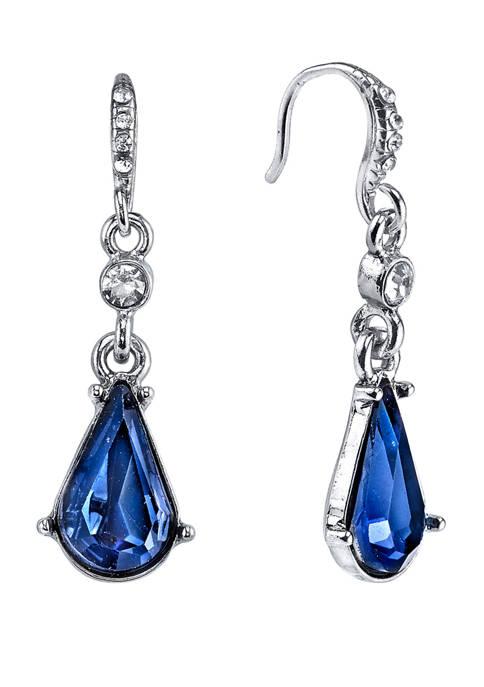 Downton Abbey Crystal Pearshape Drop Earrings