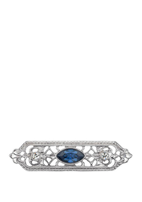 Downton Abbey Crystal and Navette Center Stone Filigree