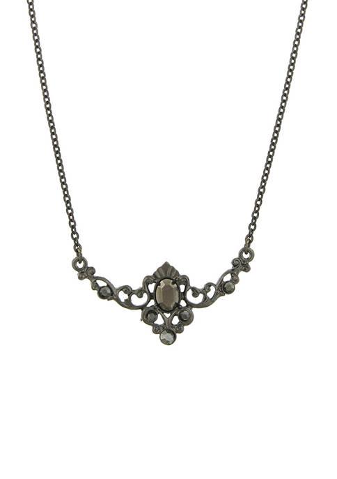 Hematite Center Stone Collar Necklace