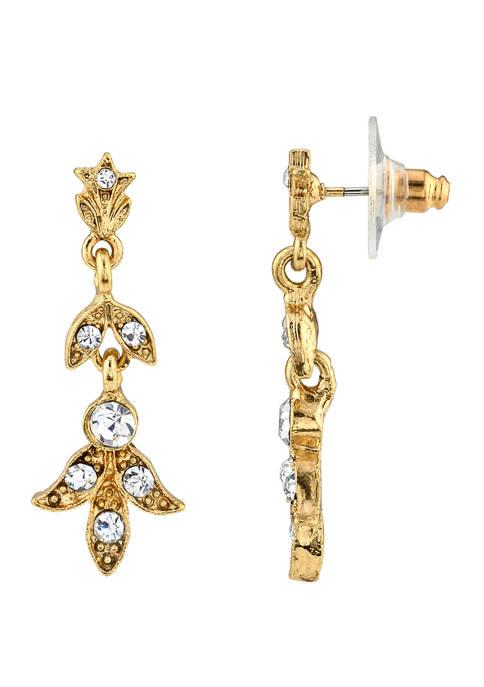 Downton Abbey Crystal Drop Earrings