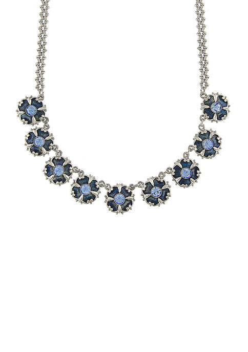 Downton Abbey Crystal and Enamel Collar Necklace