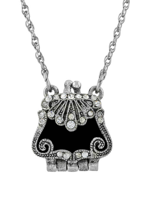 1928 Jewelry 18 Inch Silver Tone with Crystal