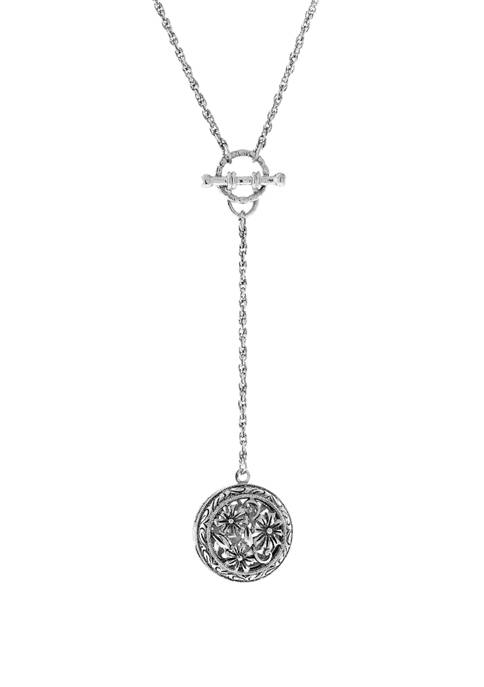 1928 Jewelry 20 Inch Silver Tone Round Floral