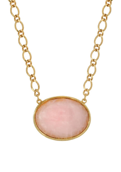 1928 Jewelry 16 in Length Adjustable Gold-Tone Rose