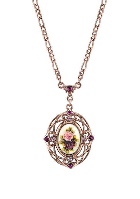 1928 Jewelry 28 Inch Rose Gold Tone Purple