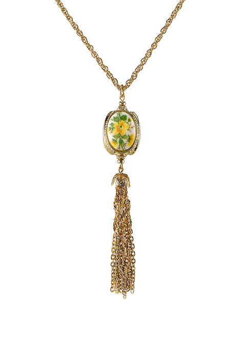 1928 Jewelry 28 Inch Gold Tone 3 Sided