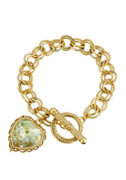 1928 Jewelry Gold Tone with Swarovski Crystal Aurore