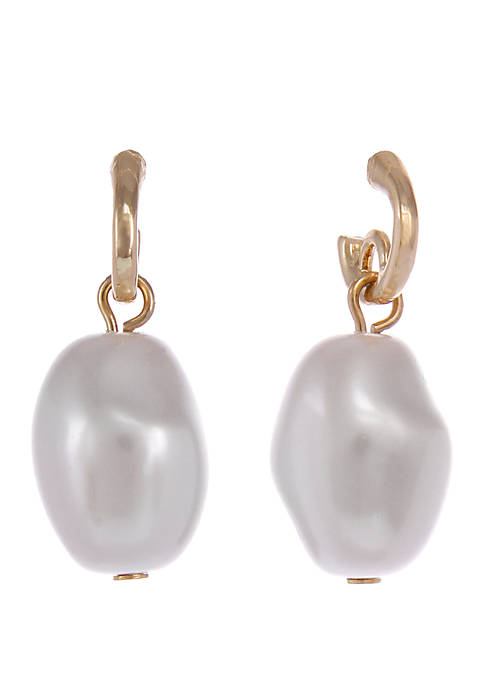 Laundry by Shelli Segal Gold Tone Pearl Drop