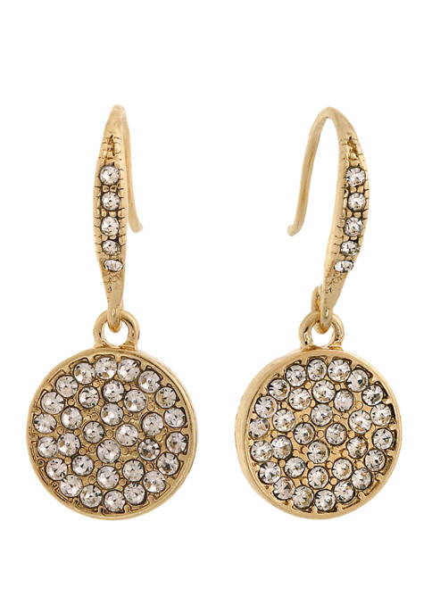 Laundry by Shelli Segal Gold Tone Pave Disc
