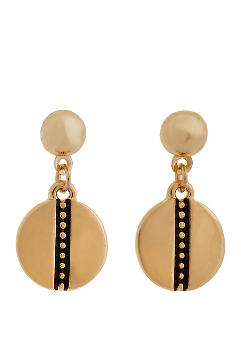 Laundry by Shelli Segal Gold Tone Metal Disc