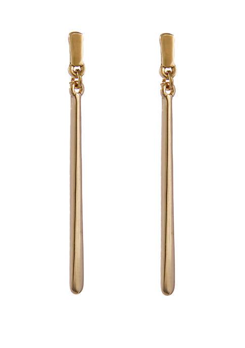Gold-Tone Linear Bar Pierced Earrings