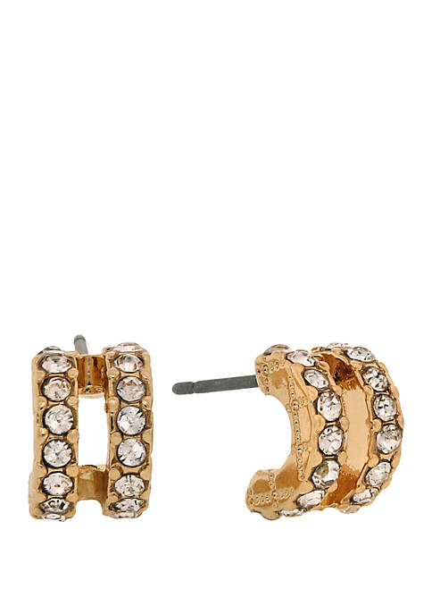 Laundry by Shelli Segal Gold Tone Double Pave