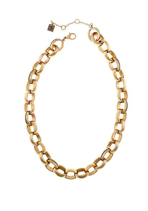 Laundry by Shelli Segal Gold Tone Metal Chain