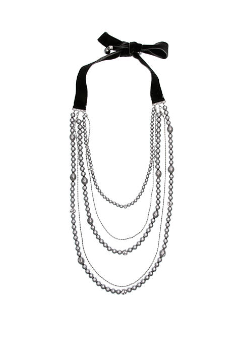 Laundry by Shelli Segal Silver Tone Rope Chain