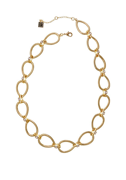 Laundry by Shelli Segal Gold Tone Oval Link