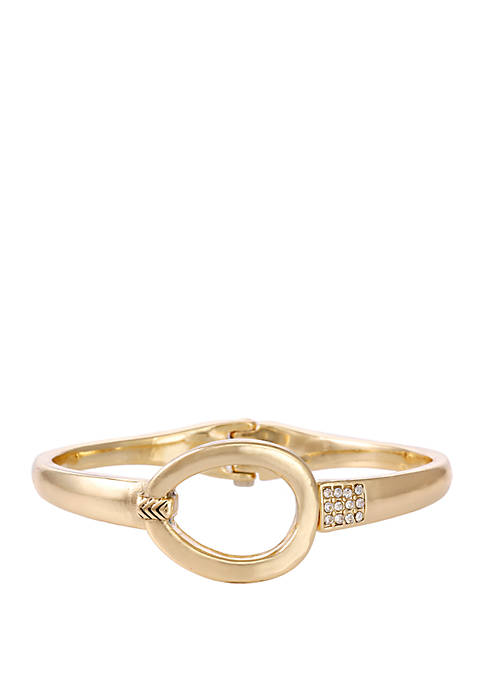 Laundry by Shelli Segal Gold Tone Hinged Oval