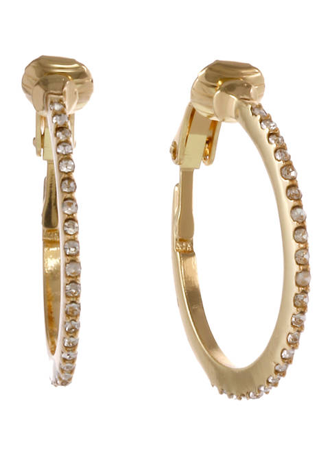 Laundry by Shelli Segal Gold Tone Huggie Clip